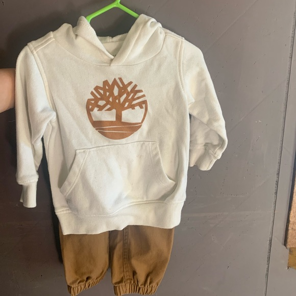 Timberland hoodie and pants set. Size 12 months